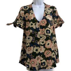 ModCloth floral top size medium